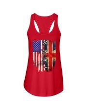 England flag Ladies Flowy Tank thumbnail