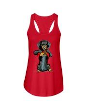 i love mom chest tattoo dachshund Ladies Flowy Tank thumbnail
