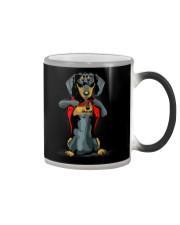i love mom chest tattoo dachshund Color Changing Mug thumbnail