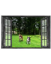 Pitbull Play In Garden Through The Window 17x11 Poster front