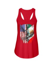 united flag Ladies Flowy Tank thumbnail
