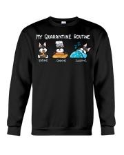 My Quarantine Routine schnauzer2 Crewneck Sweatshirt thumbnail