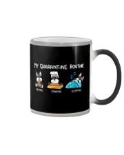 My Quarantine Routine schnauzer2 Color Changing Mug thumbnail