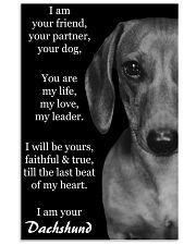 I AM YOUR DACHSHUND 11x17 Poster front