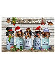 Dachshund And Butterfly It's Okay Poster Merry Christmas Wall Print House Decor 17x11 Poster front