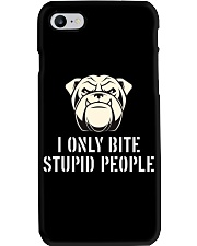I only bite stupid people  Phone Case thumbnail