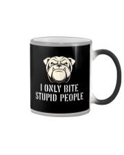 I only bite stupid people  Color Changing Mug thumbnail