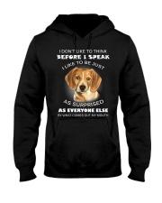 I Don'T Like To Think BEfore I Speak I Like Beagle Hooded Sweatshirt thumbnail