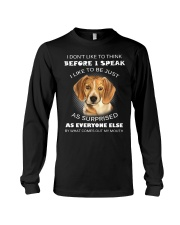I Don'T Like To Think BEfore I Speak I Like Beagle Long Sleeve Tee thumbnail
