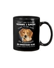 I Don'T Like To Think BEfore I Speak I Like Beagle Mug thumbnail