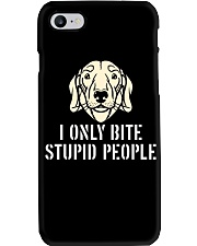 I Only Bite Stupid People Dachshund Phone Case thumbnail