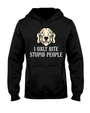 I Only Bite Stupid People Dachshund Hooded Sweatshirt thumbnail