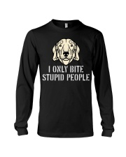 I Only Bite Stupid People Dachshund Long Sleeve Tee thumbnail