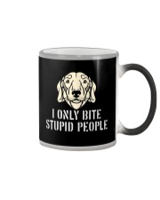 I Only Bite Stupid People Dachshund Color Changing Mug thumbnail