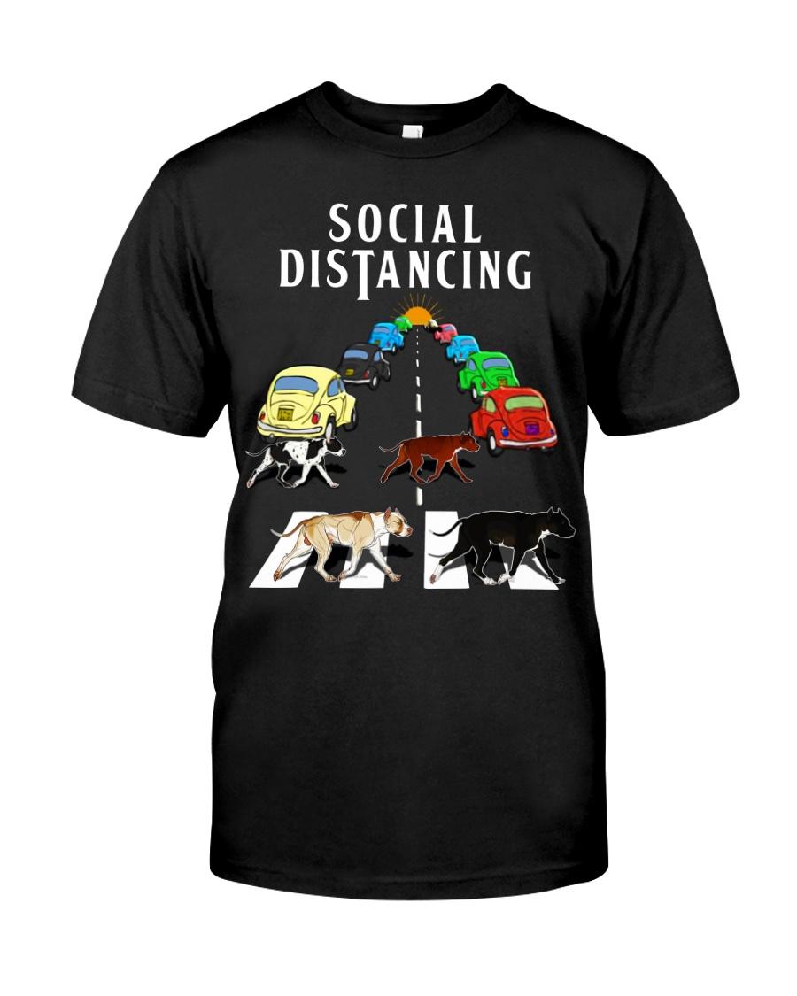 Social Distancing Pitbull Classic T-Shirt