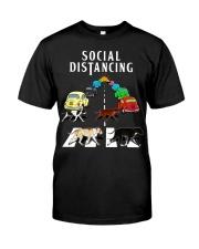 Social Distancing Pitbull Classic T-Shirt front