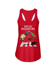 Social Distancing Pitbull Ladies Flowy Tank thumbnail