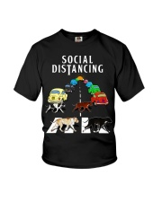 Social Distancing Pitbull Youth T-Shirt thumbnail