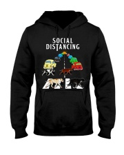 Social Distancing Pitbull Hooded Sweatshirt thumbnail