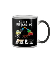 Social Distancing Pitbull Color Changing Mug thumbnail