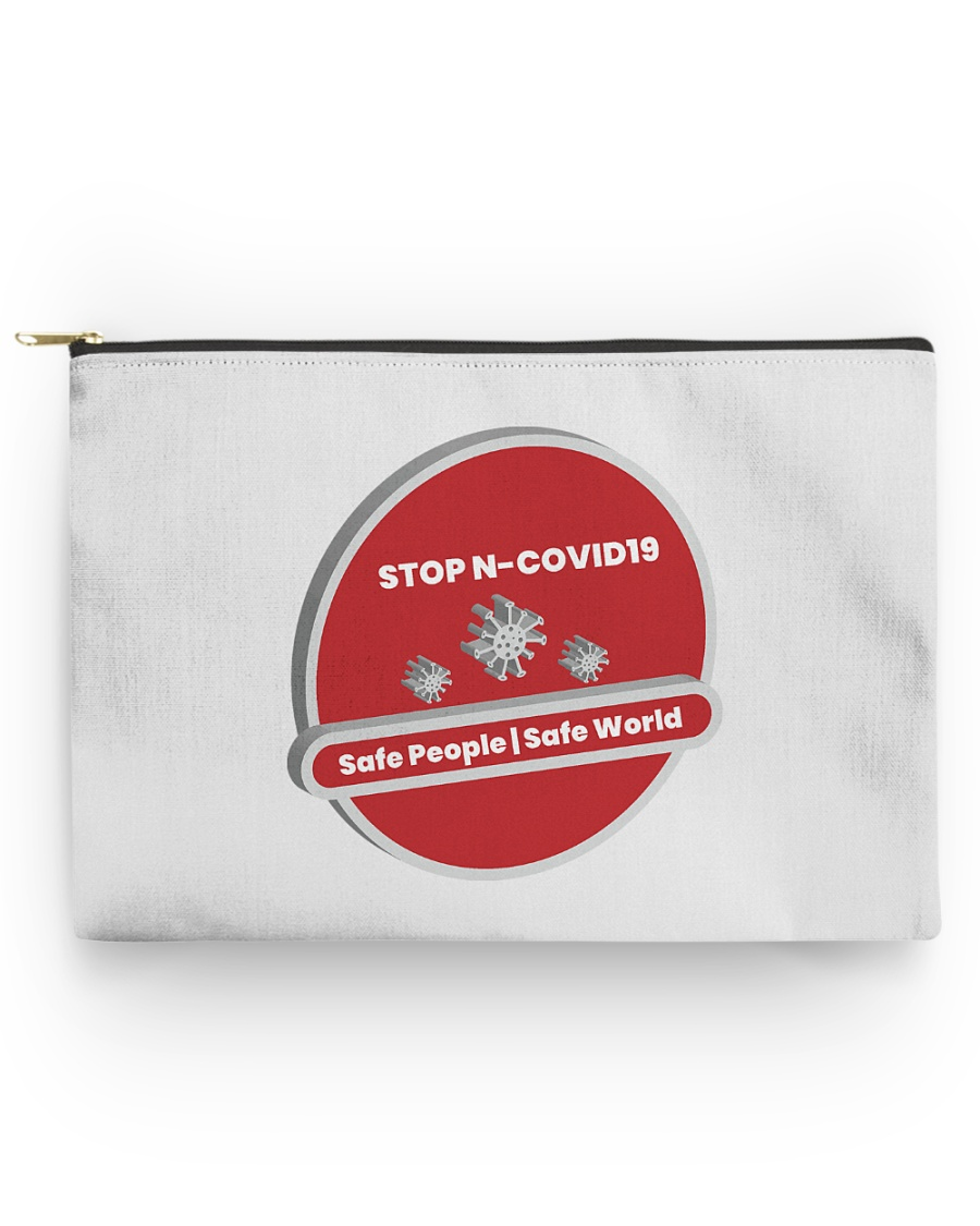 corona virus Accessory Pouch - Large Accessory Pouch - Large
