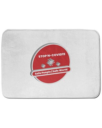 corona virus Bath Mat