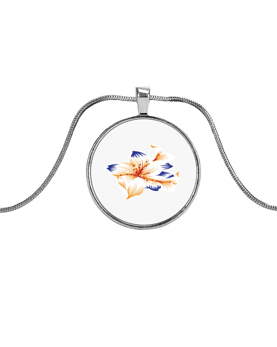 lily family Metallic Circle Necklace