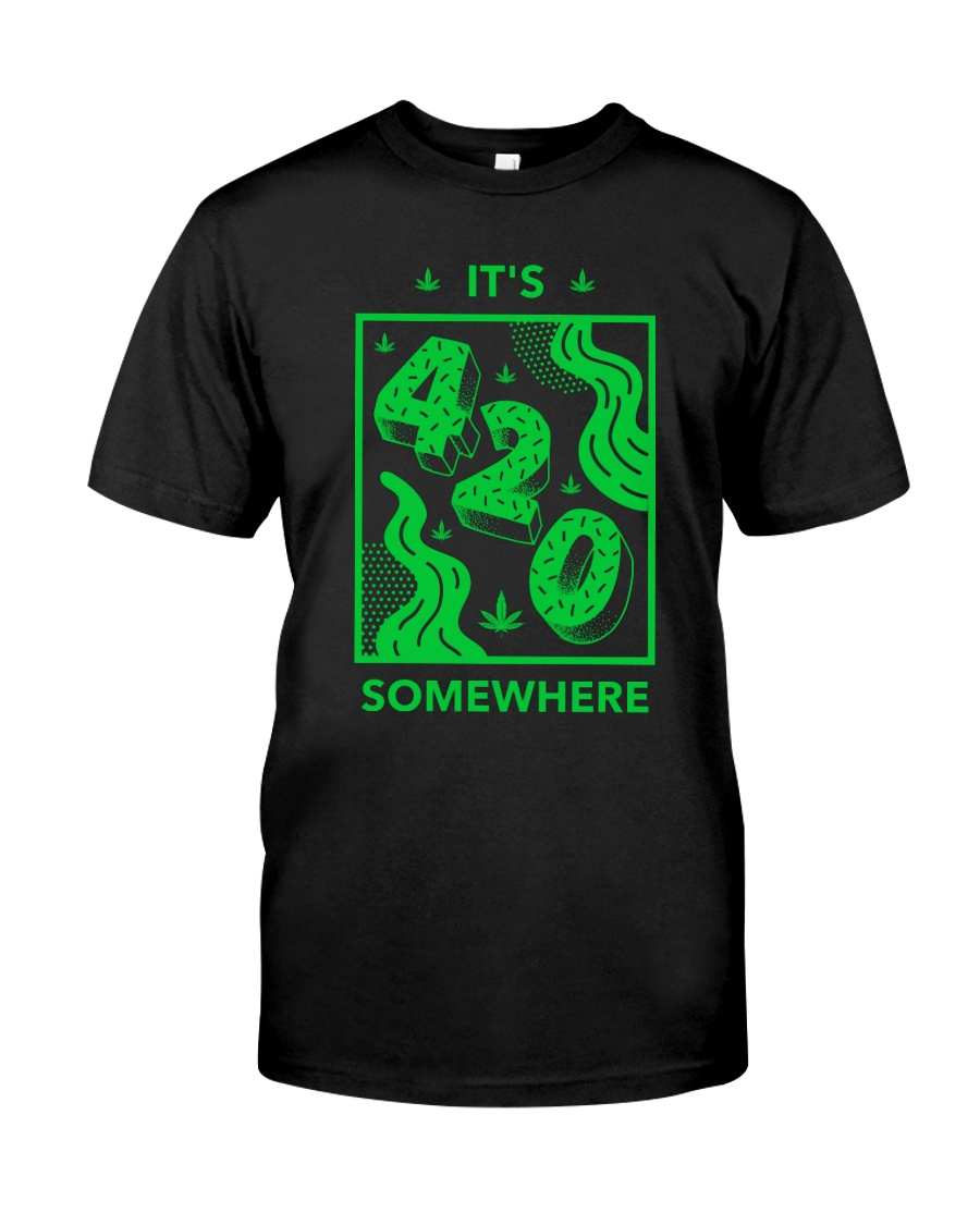 It's 420 Somewhere Cannabis Premium Fit Mens Tee