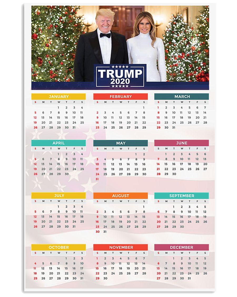 Trump 2020 Calendar 24x36 Poster