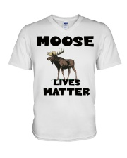 Moose Lives Matter V-Neck T-Shirt tile