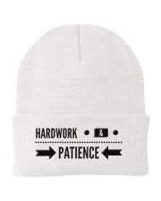 Hardwork and Patience Knit Beanie front
