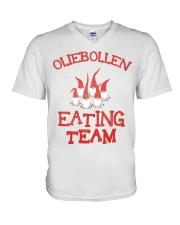OLIEBOLLEN EATING TEAM V-Neck T-Shirt thumbnail