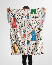 "HOLLAND Small Fleece Blanket - 30"" x 40"" aos-coral-fleece-blanket-30x40-lifestyle-front-14"