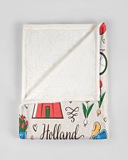 "HOLLAND Small Fleece Blanket - 30"" x 40"" aos-coral-fleece-blanket-30x40-lifestyle-front-17"