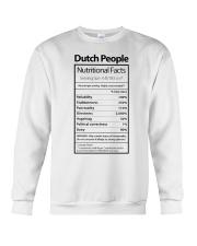 DUTCH PEOPLE NUTRITIONAL FACTS Crewneck Sweatshirt thumbnail