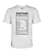 DUTCH PEOPLE NUTRITIONAL FACTS V-Neck T-Shirt thumbnail
