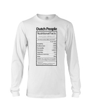 DUTCH PEOPLE NUTRITIONAL FACTS Long Sleeve Tee thumbnail