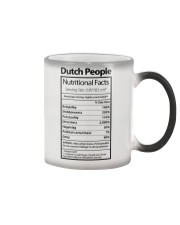 DUTCH PEOPLE NUTRITIONAL FACTS Color Changing Mug thumbnail