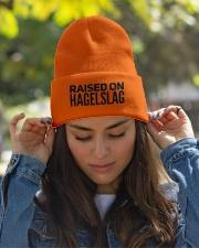 RAISED ON HAGELSLAG Knit Beanie garment-embroidery-beanie-lifestyle-07