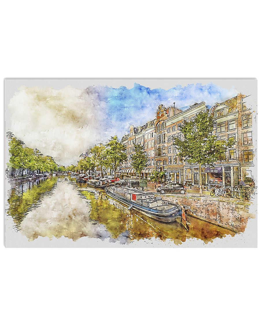 AMSTERDAM NETHERLANDS TRAVEL POSTER 17x11 Poster