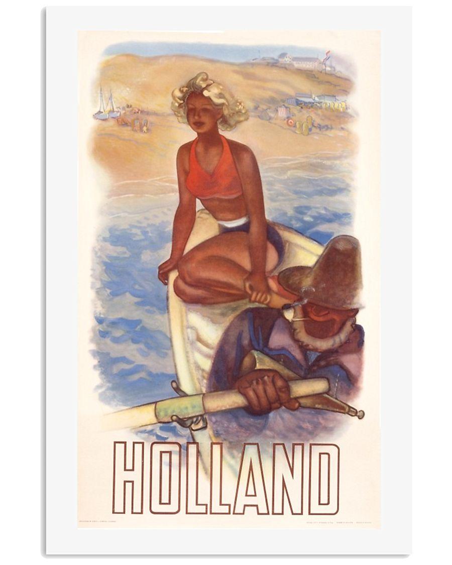 HOLLAND VINTAGE TRAVEL 1950 11x17 Poster
