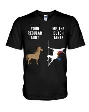 YOUR REGULAR AUNT ME THE DUTCH TANTE V-Neck T-Shirt thumbnail