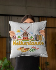 "THE NETHERLANDS Indoor Pillow - 16"" x 16"" aos-decorative-pillow-lifestyle-front-03"