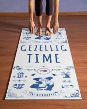 GEZELLIG TIME Yoga Mat 24x70 (vertical) aos-yoga-mat-lifestyle-26