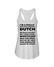 I'M A REALLY NICE KIND HEARTED DUTCH Ladies Flowy Tank thumbnail