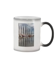 VOLENDAM THE NETHERLANDS HARBOUR POSTER Color Changing Mug thumbnail