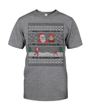 DUTCH OLIEBOLLEN XMAS SWEATER PATTERN Classic T-Shirt front