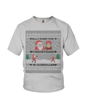 DUTCH OLIEBOLLEN XMAS SWEATER PATTERN Youth T-Shirt tile