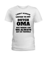 MY DUTCH OMA Ladies T-Shirt thumbnail