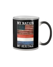 AMERICA MY NATION THE NETHERLANDS MY HERITAGE Color Changing Mug thumbnail